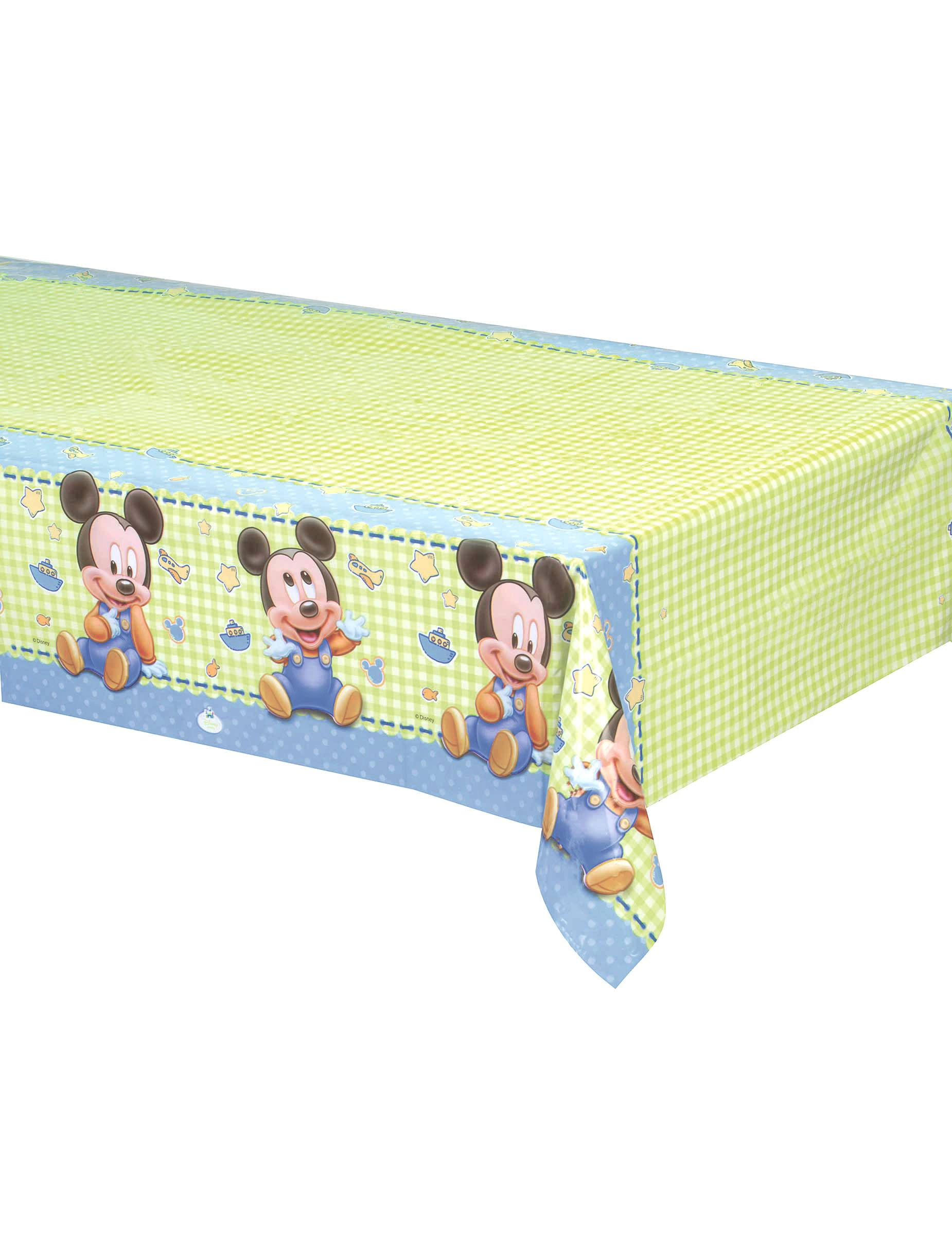 Vegaoo.es Mantel plástico Bebé Mickey Mouse 120x180 cm