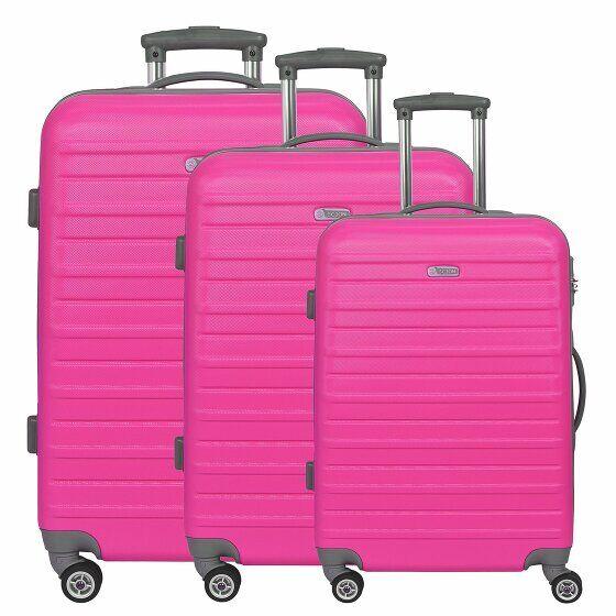 d&n Scion Travel Line 9400 Maletas 4 ruedas set de 3pzs. pink