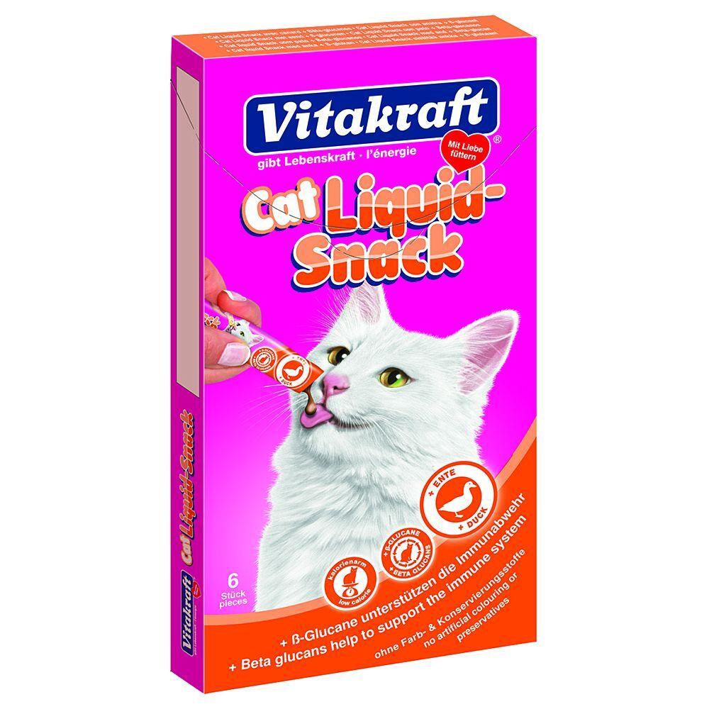 Vitakraft snack líquido con pato y ß-glucanos para gatos - 6 x 15 g