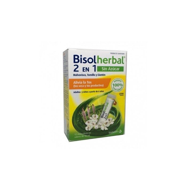 Sanofi Bisolherbal 2en1 Sin Azúcar Tos seca y Productiva 12 Sobres