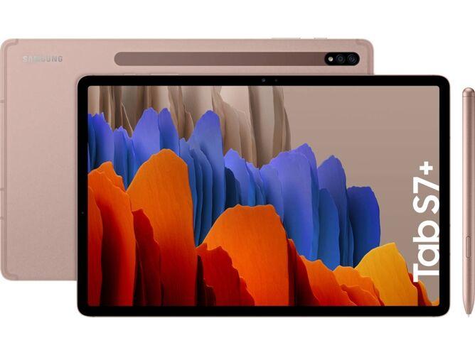 Samsung Tablet SAMSUNG Galaxy Tab S7+ (12.4   - 128 GB - 6 GB RAM - Wi-Fi - Bronce)