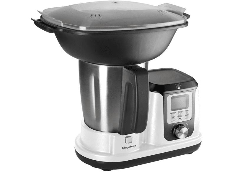 MAGEFESA Robot de cocina - Magefesa Magchef White MGF4540, Multifunción, Accesorio Vaporera, 3.30 L, 1200W, Blanco
