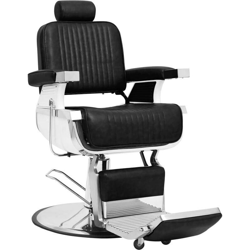 Vidaxl - Silla de peluquería de cuero sintético negro 68x69x116 cm