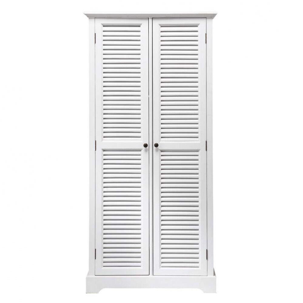 Maisons du Monde Guardarropa con 2 puertas blanco Barbade