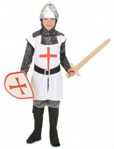 Disfraz caballero niño cruz roja L 10-12 años (130-140 cm)