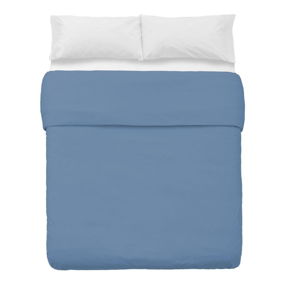 LOLA home Funda nórdica azul de algodón y poliéster clásica para cama de 150 cm
