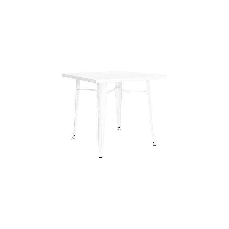 REGALOS MIGUEL Mesas Comedor - Mesa Torix Cuadrada 70 cm - Blanco - Blanco