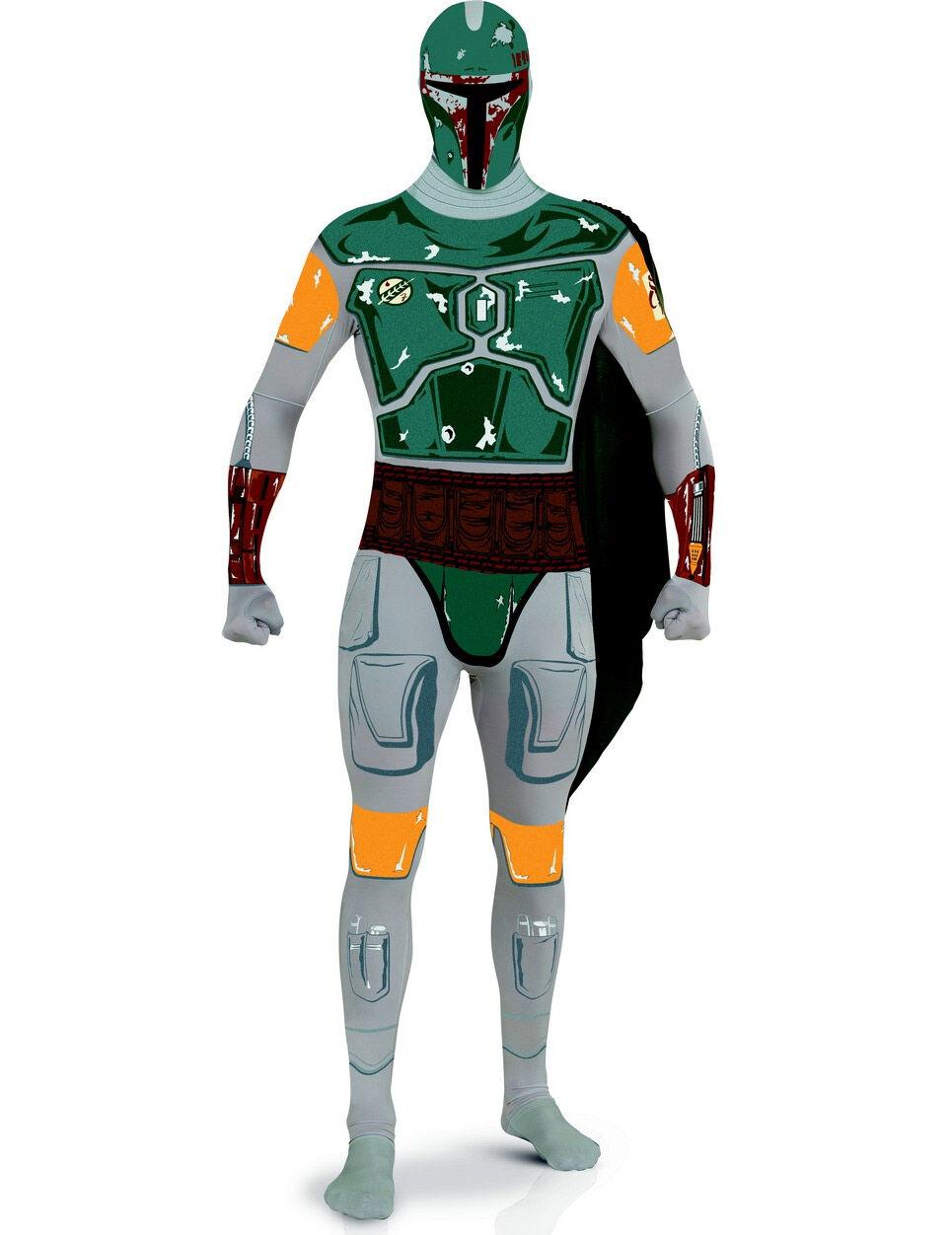 Vegaoo.es Disfraz adulto segunda piel Boba Fett- Star Wars - M