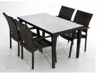 Conjunto garbi 4 sillas mesa rattan 140x80