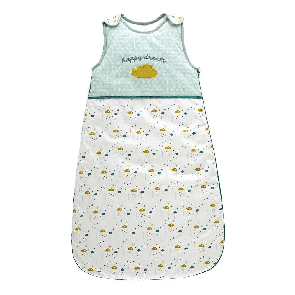 Maisons du Monde Saco de dormir para bebé de algodón verde 50 x 90 cm GASTON