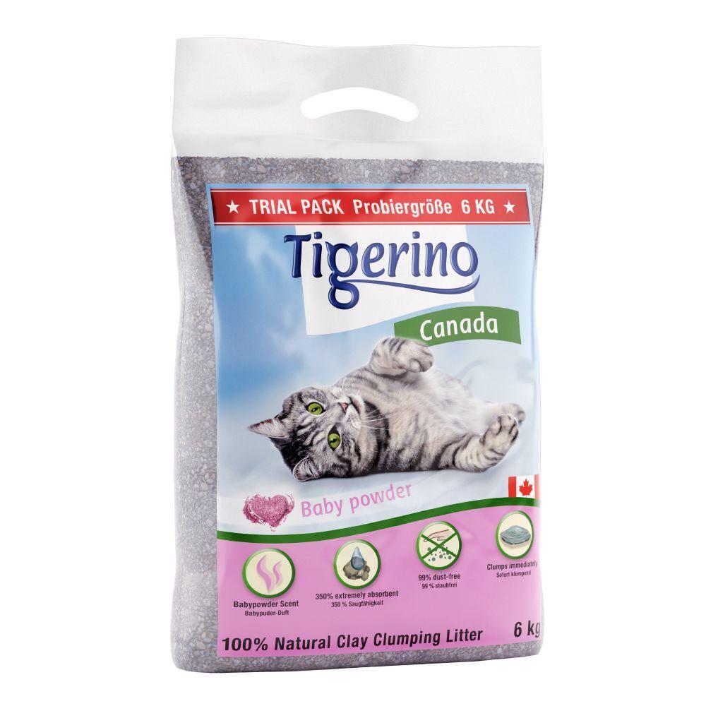 Tigerino Canada 6 kg arena para gatos - Tamaño de prueba.- 6 kg Sensitive (sin perfume)