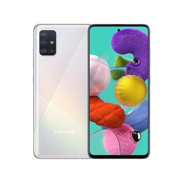 """Samsung Galaxy A51 SM-A515F 4+128GB de 6.5"""" Prisma Cruch Blanco DS"""