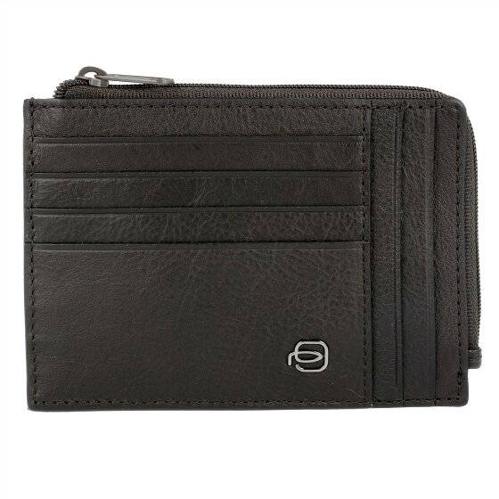Piquadro Black Square Porta tarjetas de credito RFID piel 12,5 cm marrón oscuro