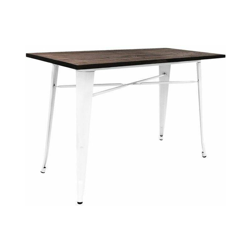 REGALOS MIGUEL Mesas Comedor - Mesa Torix Rectangular Madera 120 x 60 cm - Blanco