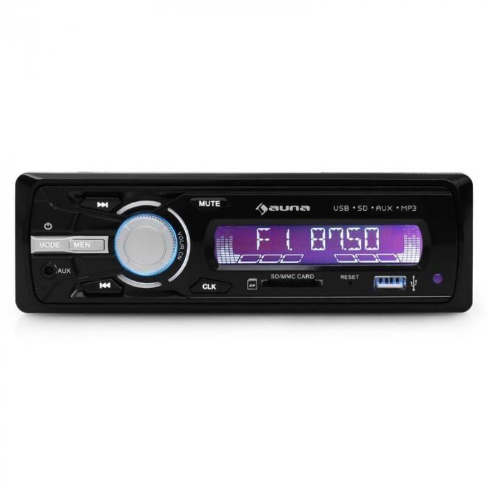 Auna MD-120 Radio de coche USB SD MP3 4 x 75W max potencia
