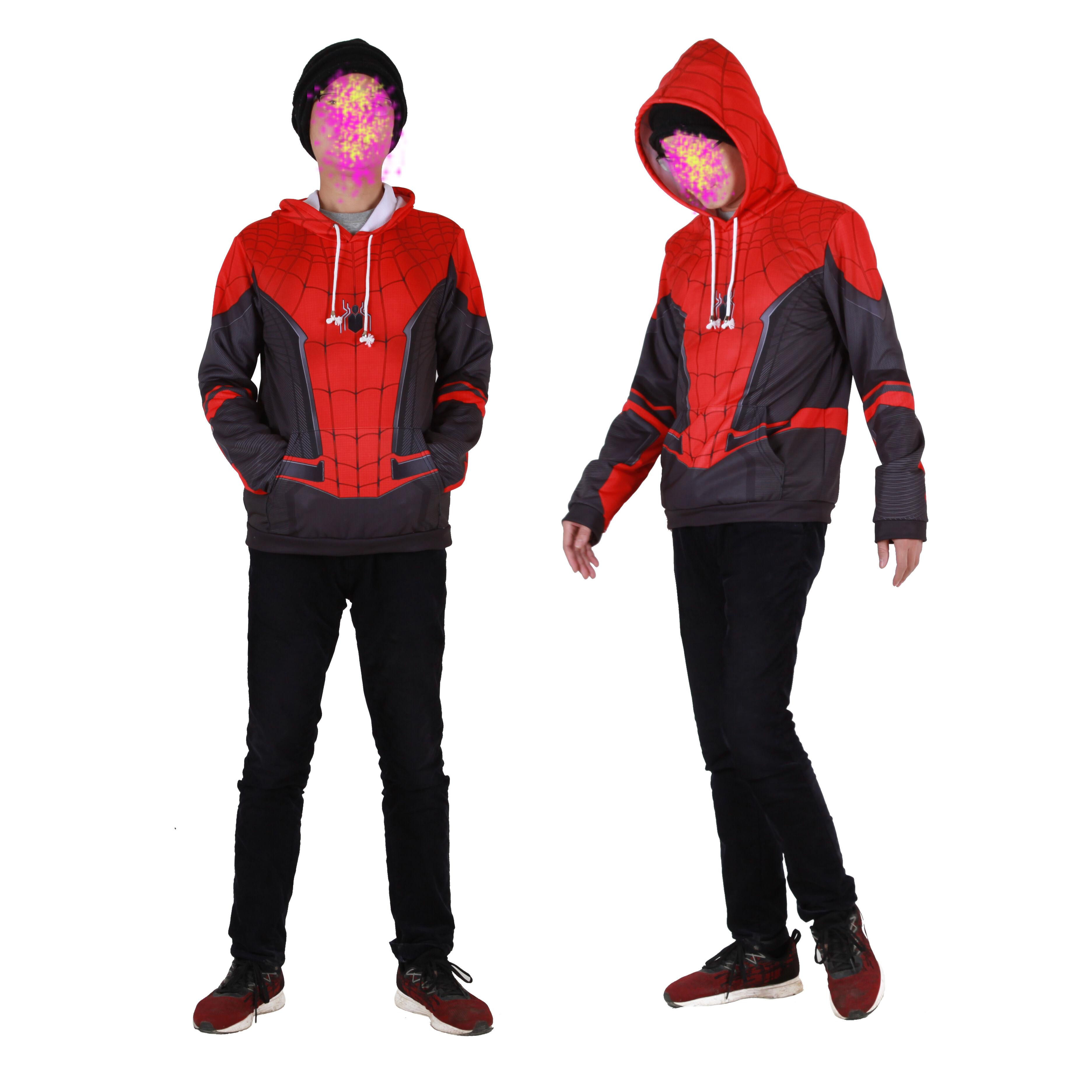 Súper héroe 2019 spiderman lejos de casa 3d estilo coslay traje de 1 pieza