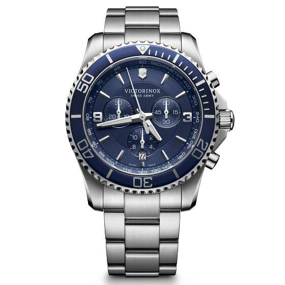 Victorinox Maverick Cronógrafo Reloj de buceo acero inoxidable blue-silver