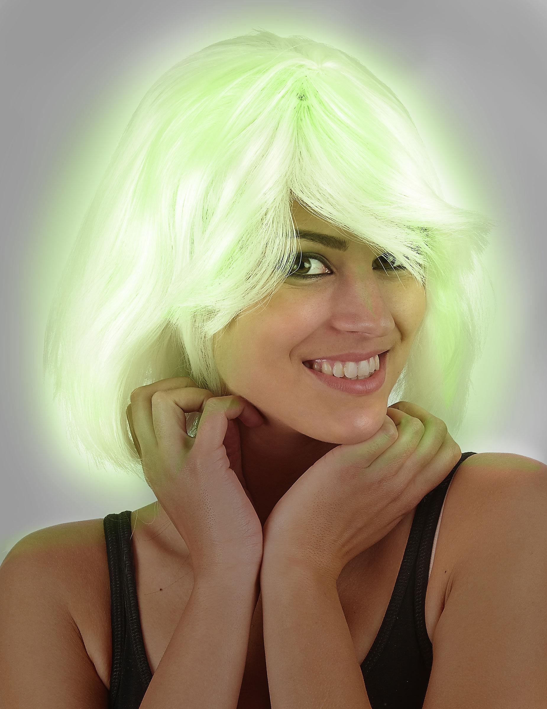 Vegaoo.es Peluca fluorescente mujer