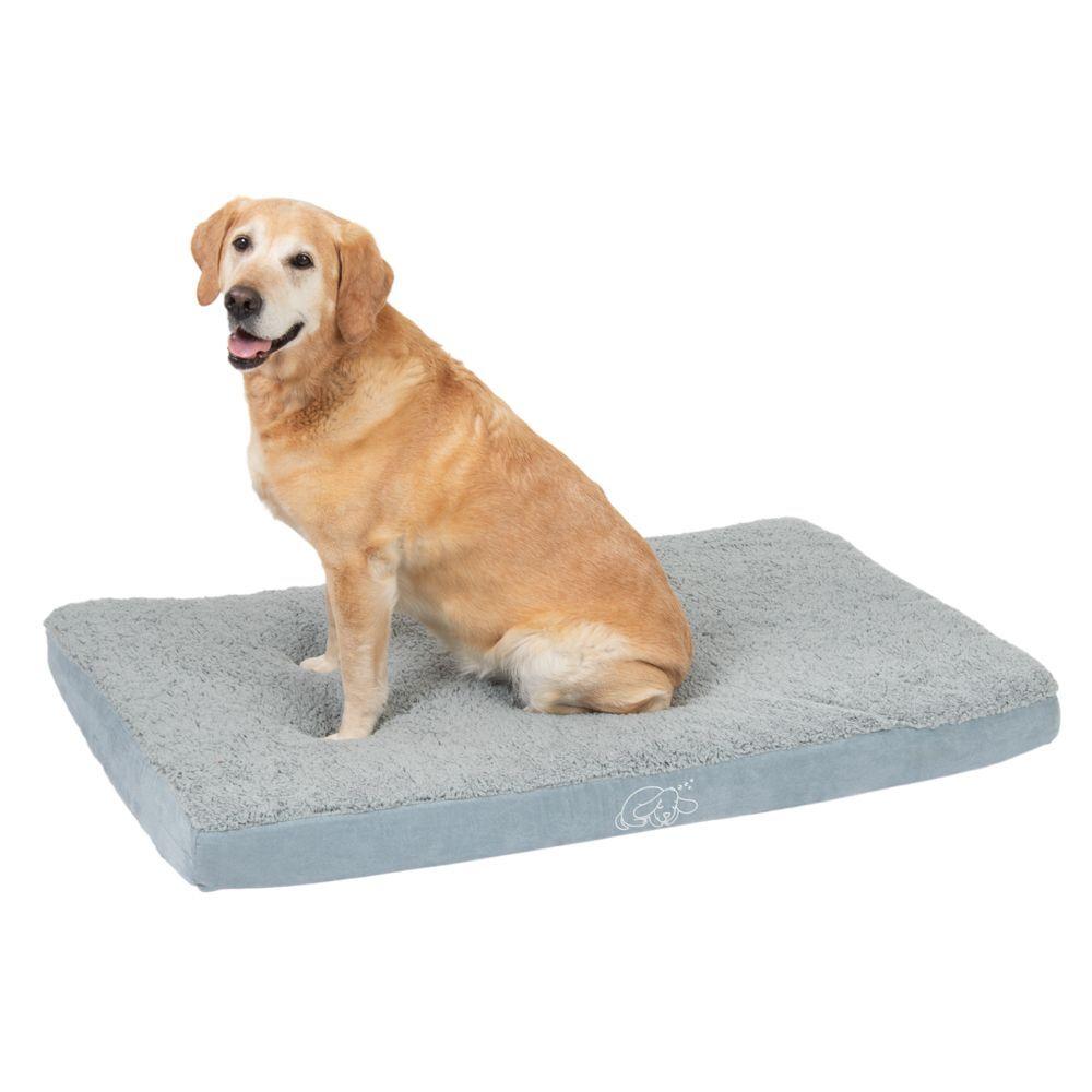 zooplus Exclusive Colchón ortopédico Memory gris para perros - 121 x 74 x 10 cm (L x An x Al) (perro)