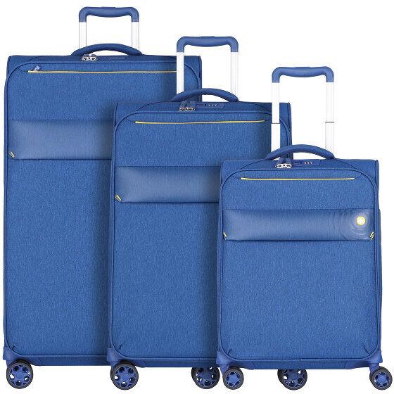 d&n Travel Line 8004 Maleta 4 ruedas set 3pcs. blau