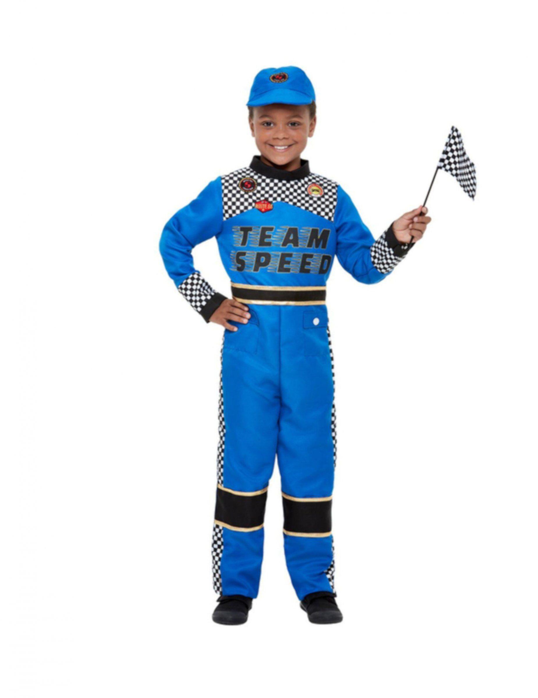 Vegaoo.es Disfraz piloto de formula 1 azul niño - 7-9 años (130/143 cm)