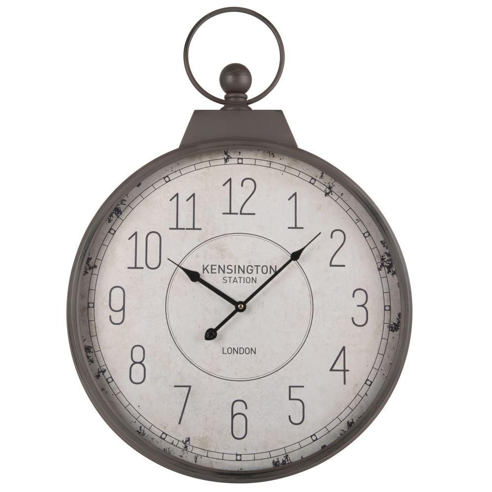 Maisons du Monde Reloj de bolsillo de metal gris