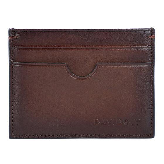 Davidoff Venice Porta tarjetas de credito piel 9,5 cm marrón