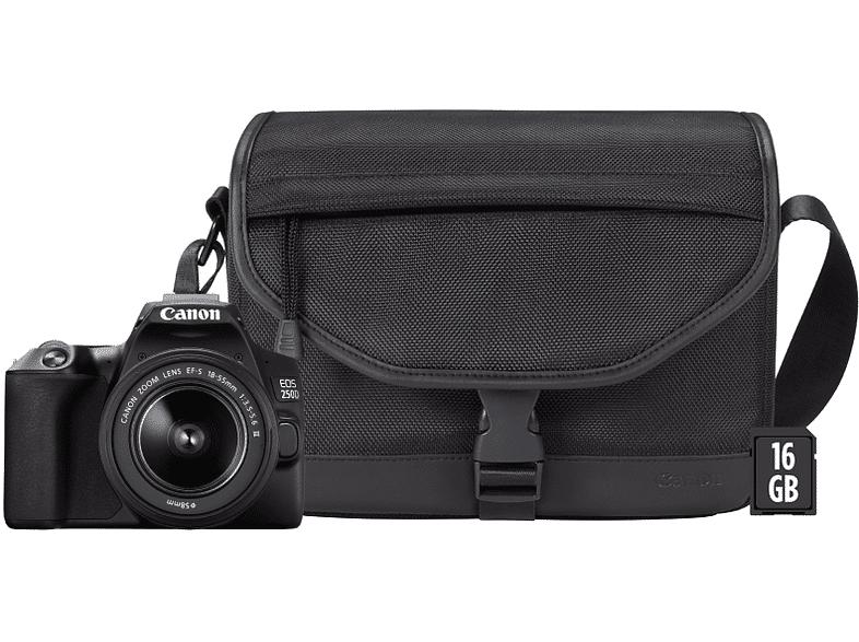 Canon Cámara réflex - Canon EOS 250D, CMOS 24.1 MP, 4K, DIGIC 8, Wi-Fi, Negro + EF-S 18-55 f/3.5-5.6 III