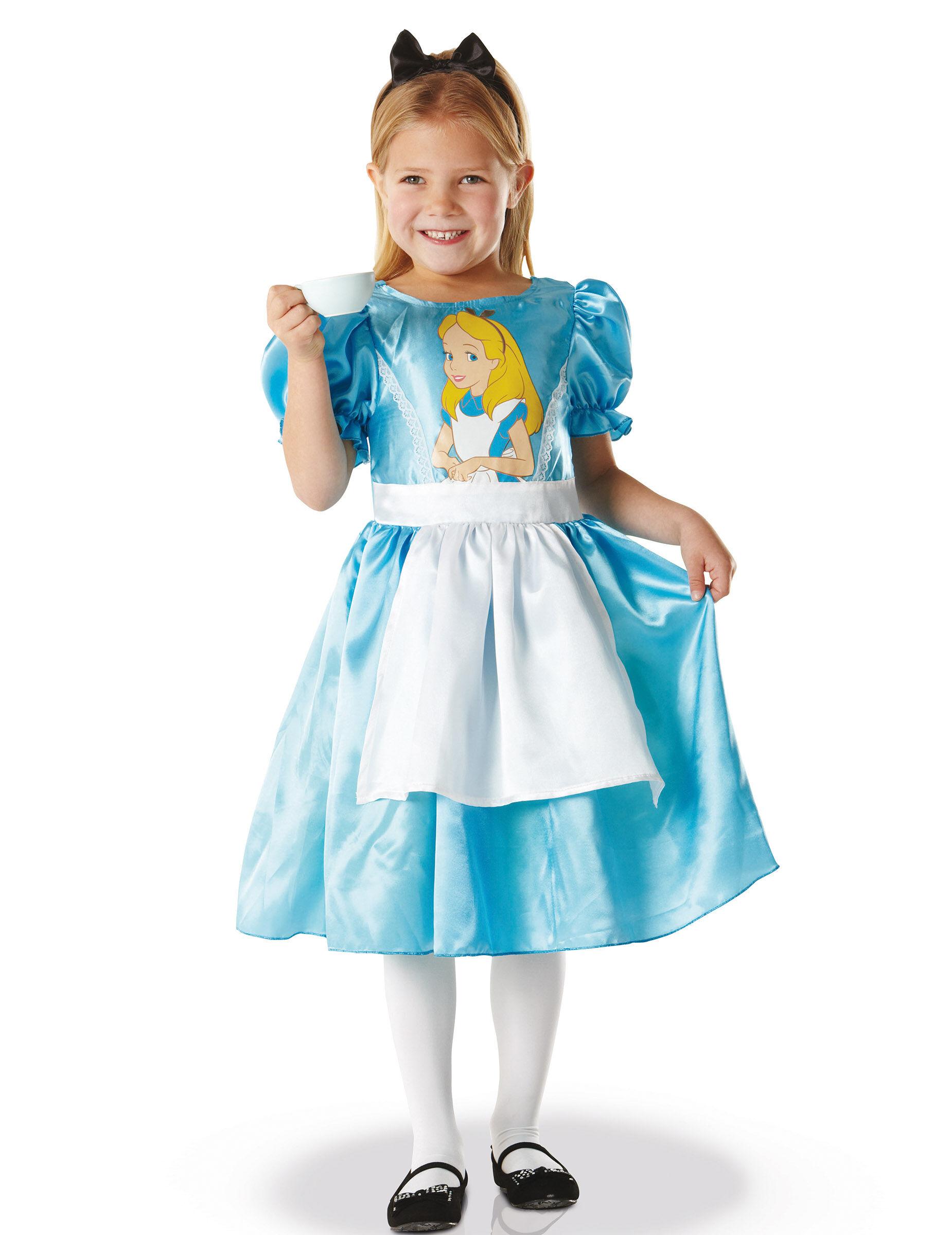 Vegaoo.es Disfraz clásico Alicia en el país de las maravillas niña - 7 a 8 años (117 a 128 cm)