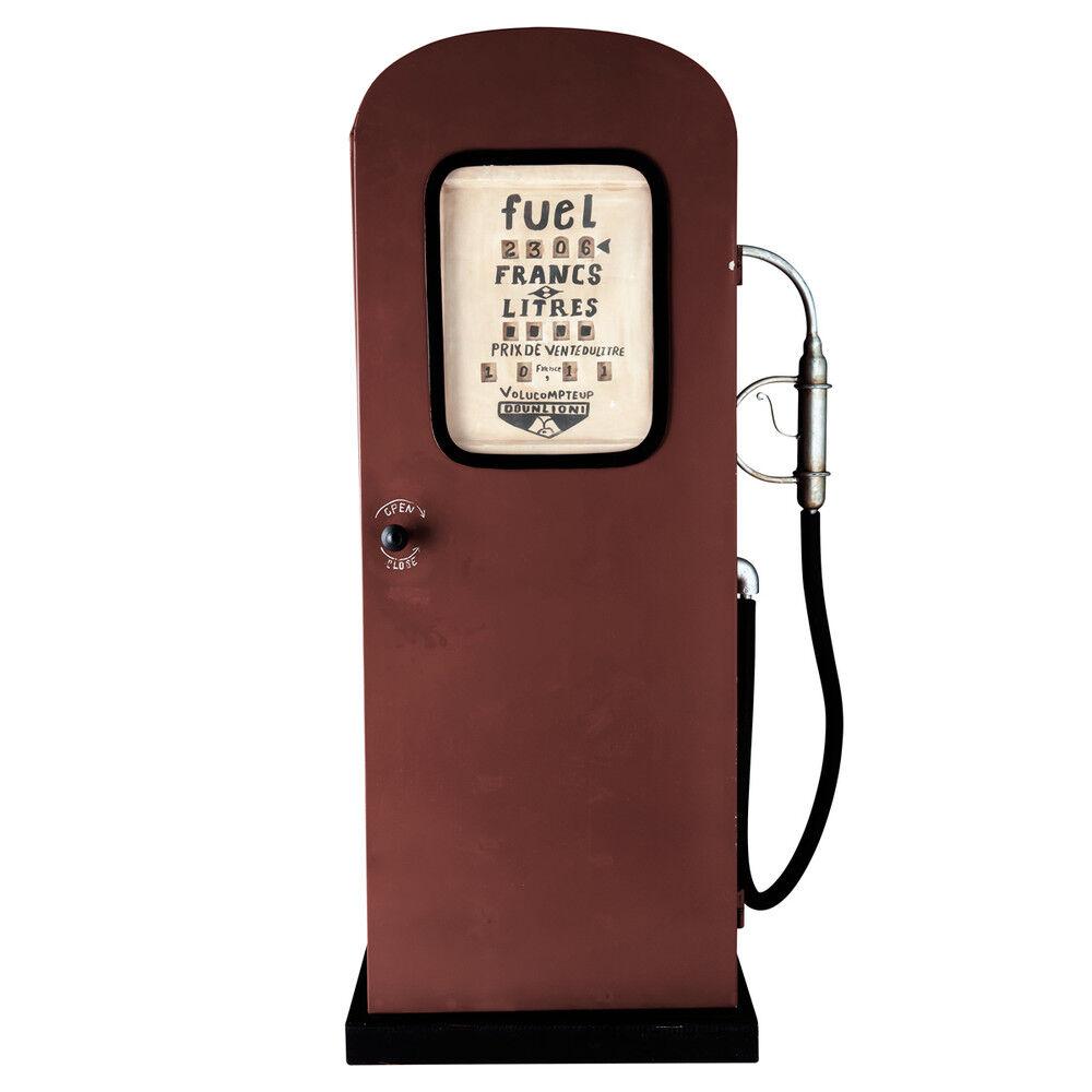 Maisons du Monde Mueble surtidor de gasolina rojo de metal An. 51 cm CALIFORNIE