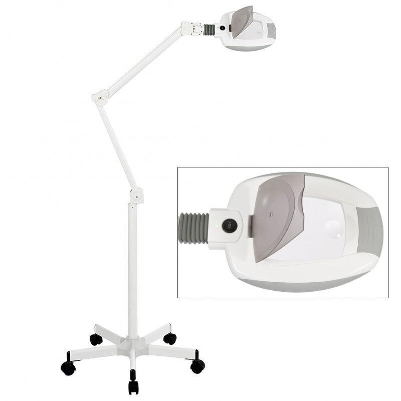 Lámpara Lupa LED de Luz Fría Ampli con 5 Aumentos (base rodable)