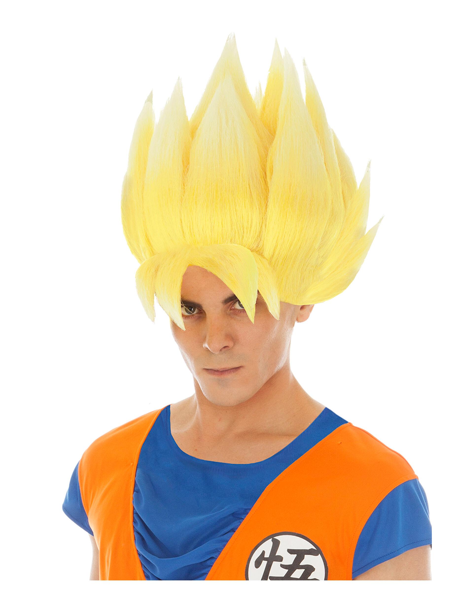 Vegaoo.es Peluca Goku amarilla Dragon Ball Z adulto
