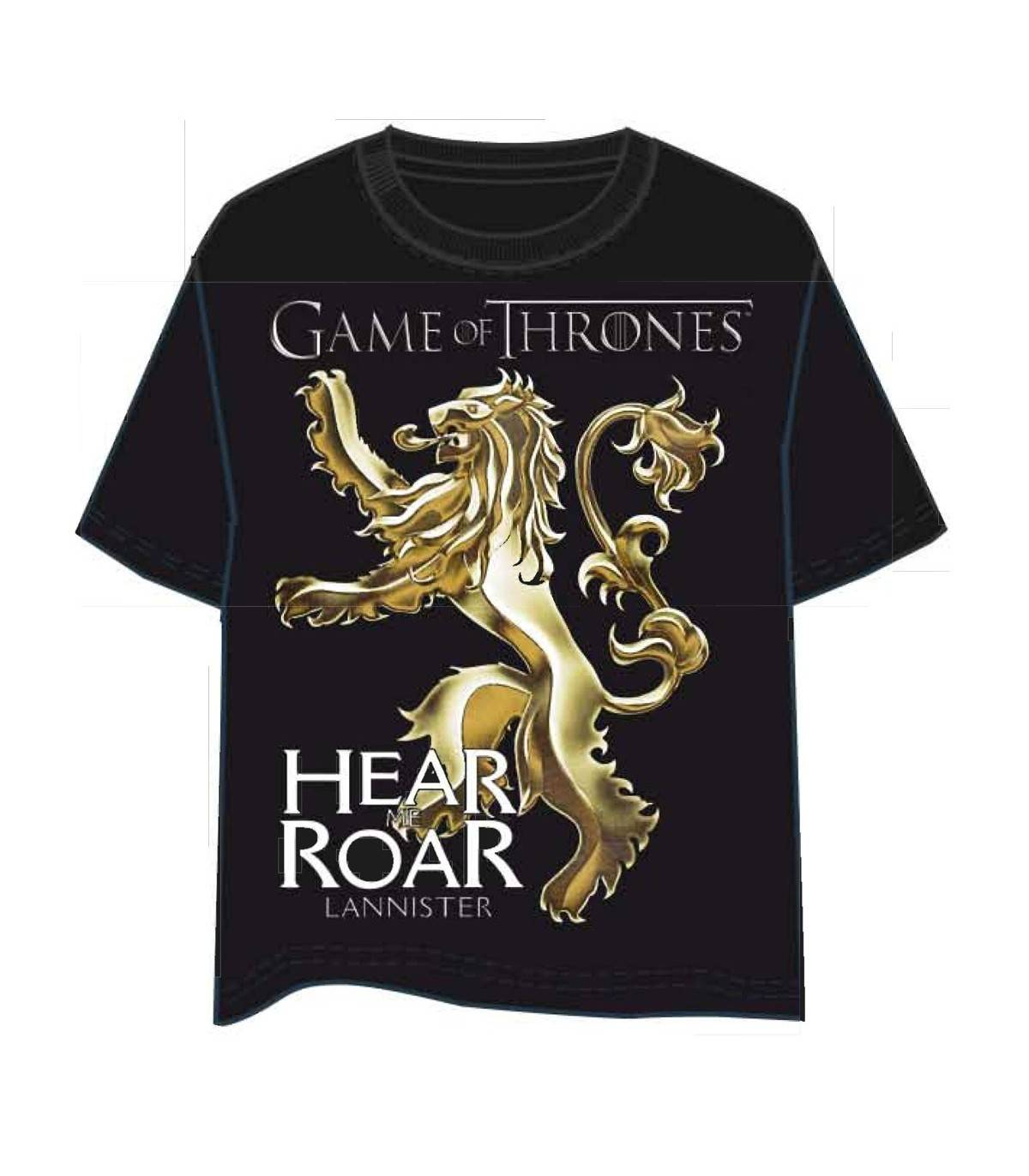 GAMES OF THRONES Camiseta JUEGO DE TRONOS 3565 Negro P/S