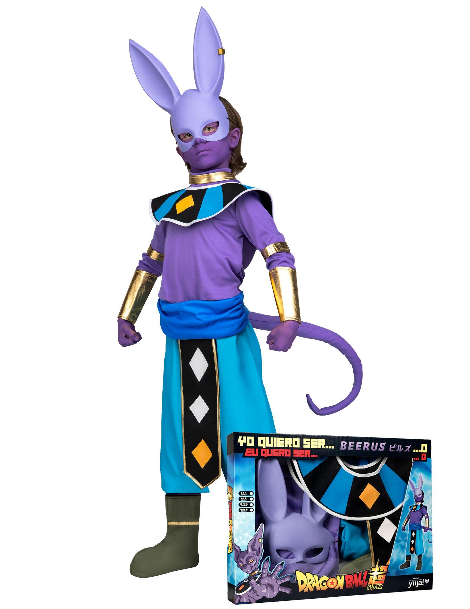 Vegaoo.es Disfraz con máscara Beerus Dragon Ball niño en caja - 5-6 años
