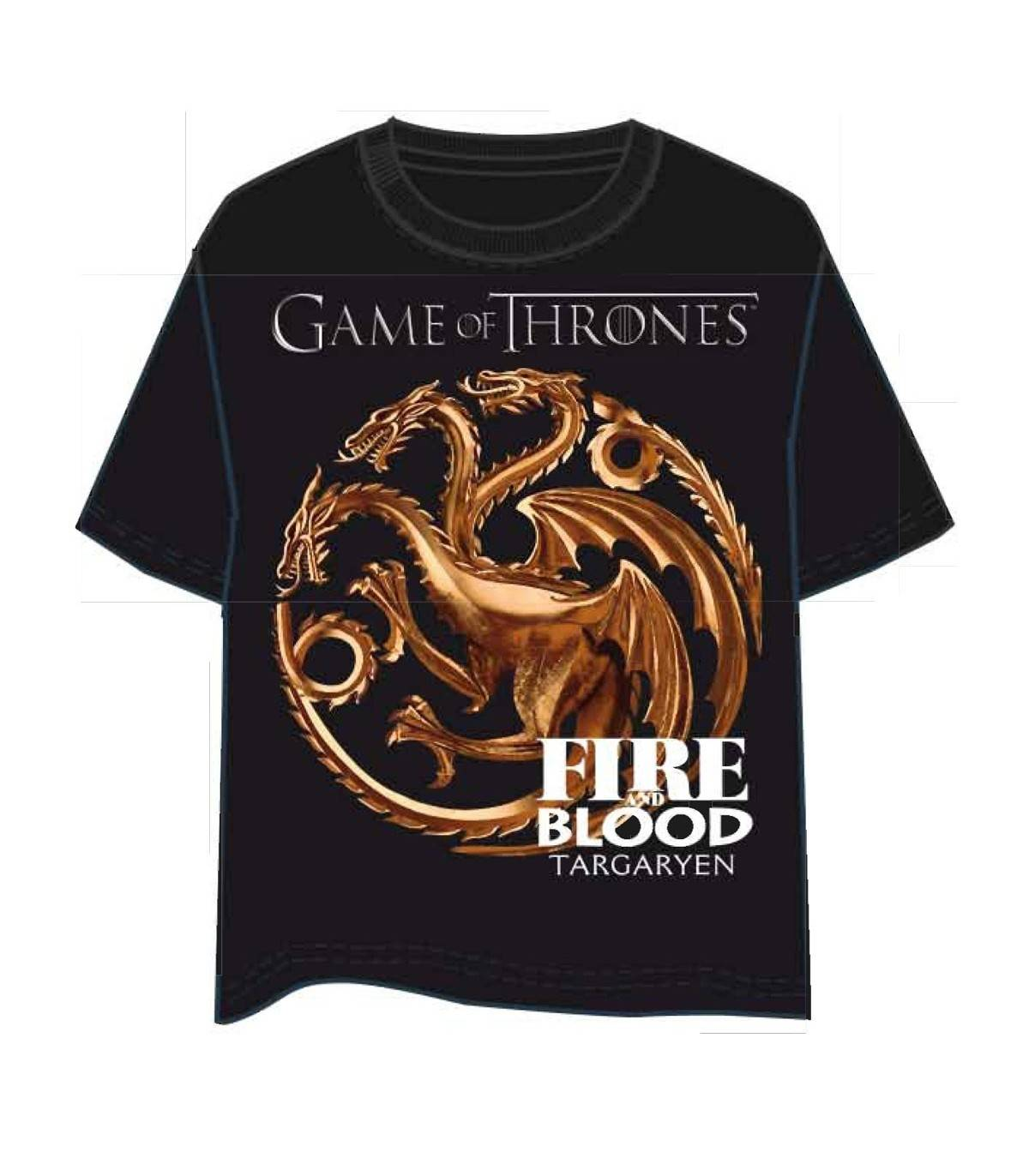 GAMES OF THRONES Camiseta JUEGO DE TRONOS 3563 M Negro
