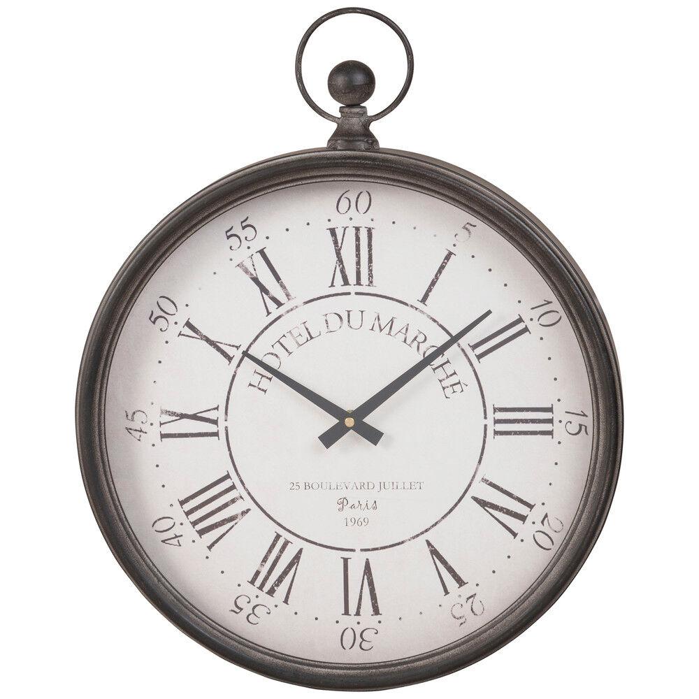 Maisons du Monde Reloj de bolsillo de metal negro