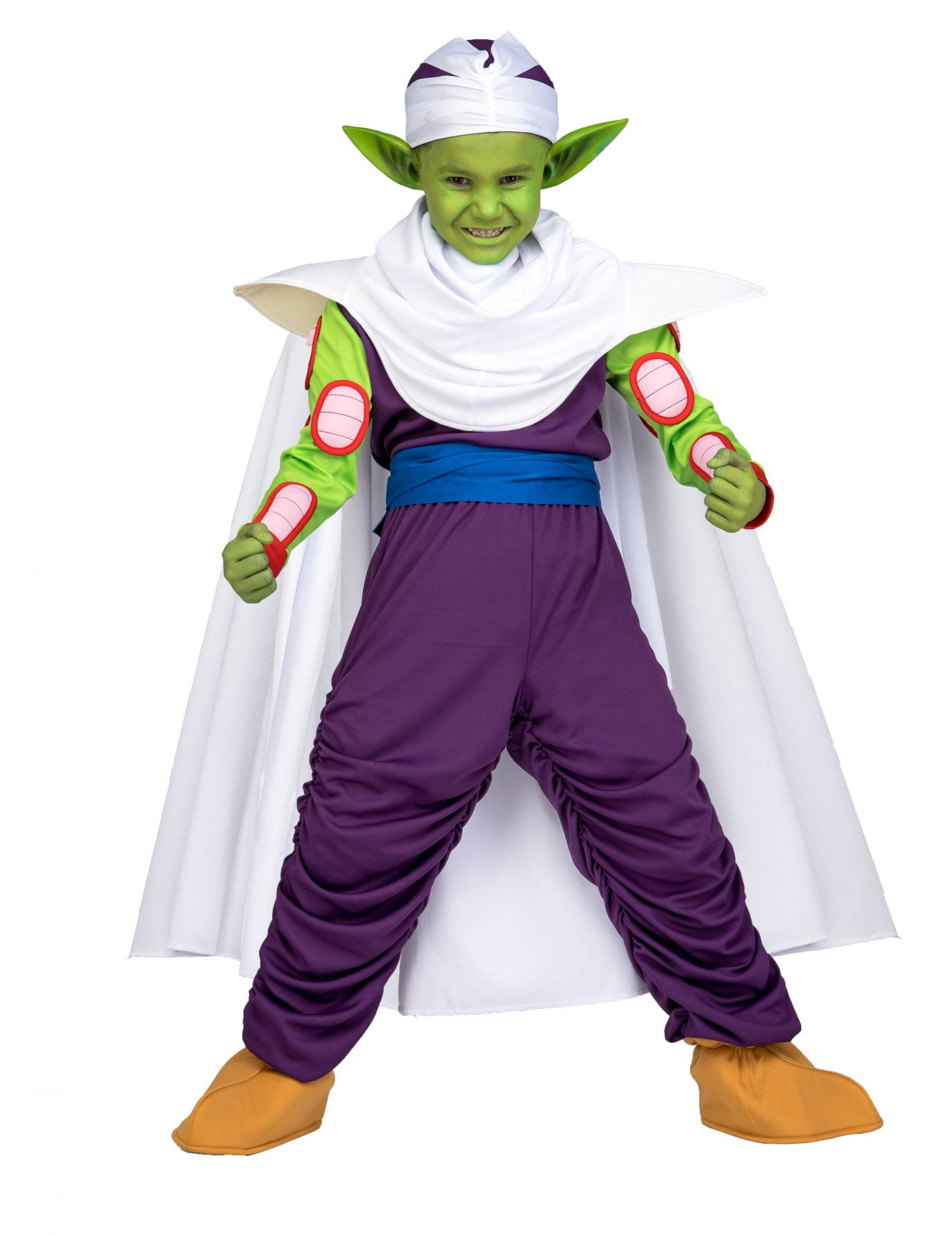 Vegaoo.es Disfraz Piccolo Dragon Ball niño con maquillaje en caja - 7-9 años