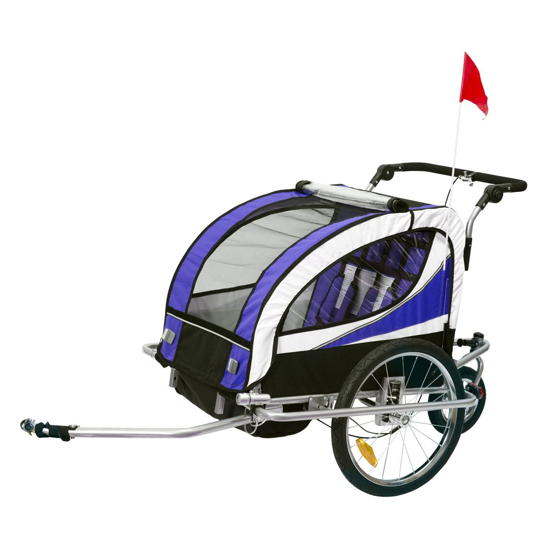 HOMCOM Remolque Para Bicicleta Tipo Carro Con Barra De Paseo