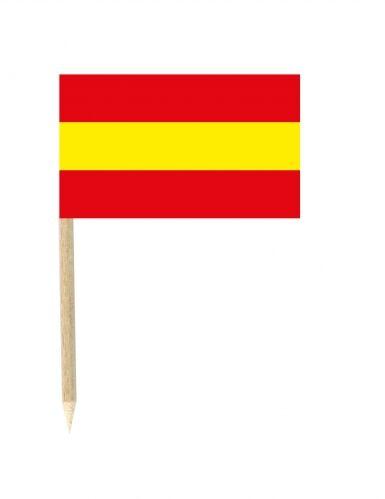 Lote de 50 palillos mini banderas España 3x5 cm Única