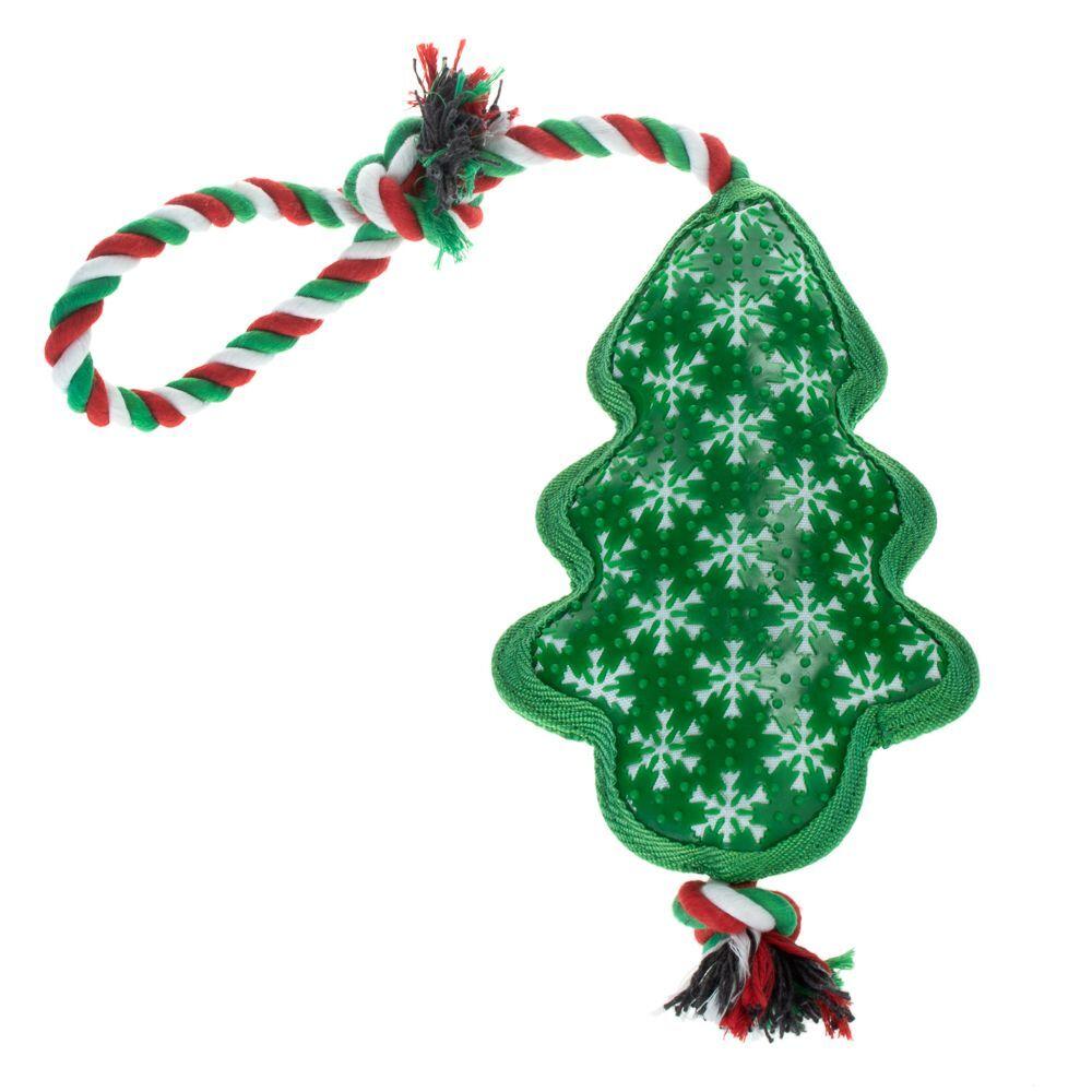 zooplus Exclusive Árbol de Navidad de juguete con cuerda para perros
