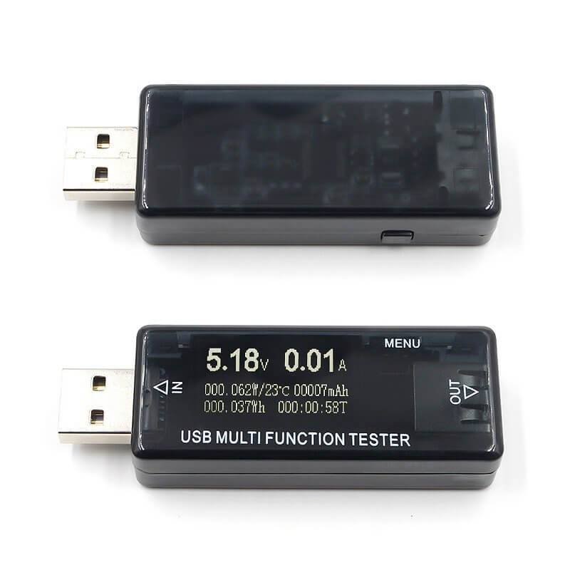 tiendatec TESTER USB DE CARGA QC2.0/3.0 CON DISPLAY