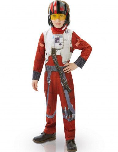 Disfraz niño clásico Poe X-Wing fighter Star Wars VII 7 a 8 años (117 a 128 cm)