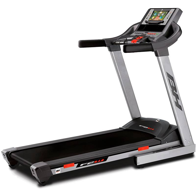 Cinta de correr F2W con pantalla TFT BH Fitness: Equipada con la tecnología touch-fun