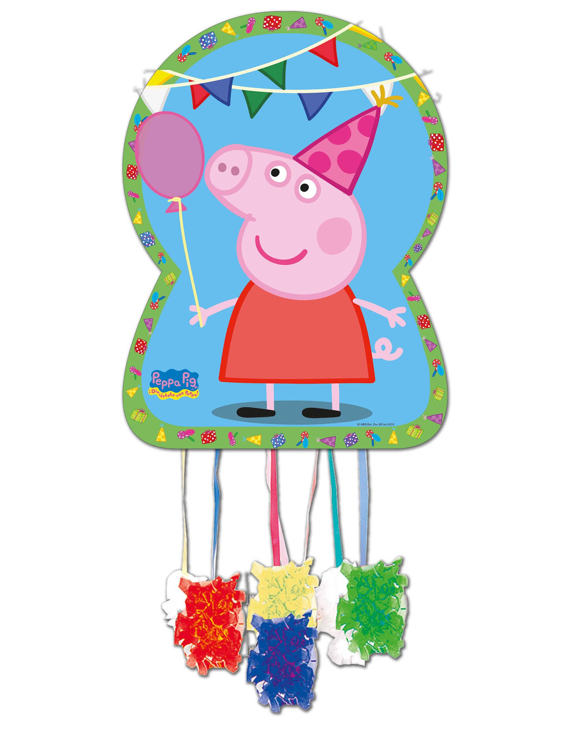 Vegaoo.es Piñata de cartón Peppa Pig 46 x 65 cm