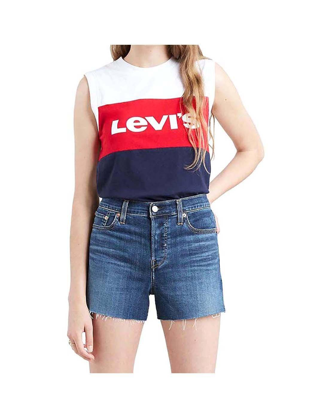 Levis Top Levis On Tour Cb Tank Colorblock Blanco Mujer - Xs