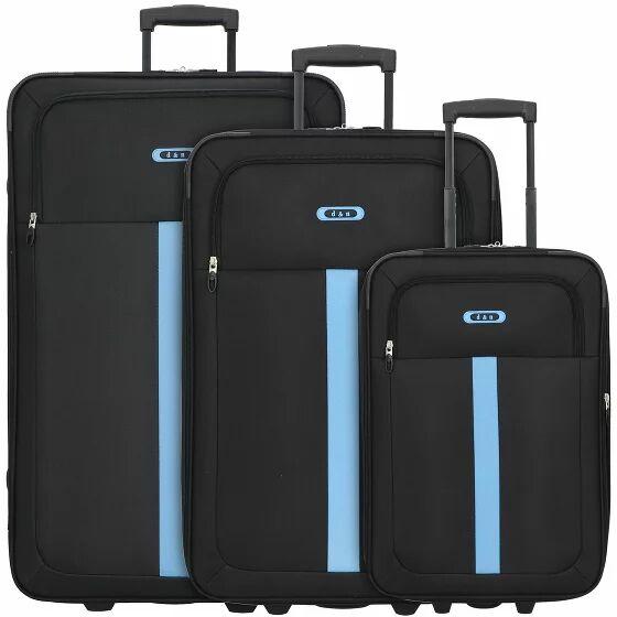 d&n Travel Line 9300 Maletas 2 ruedas set de 3pzs. schwarz-blau