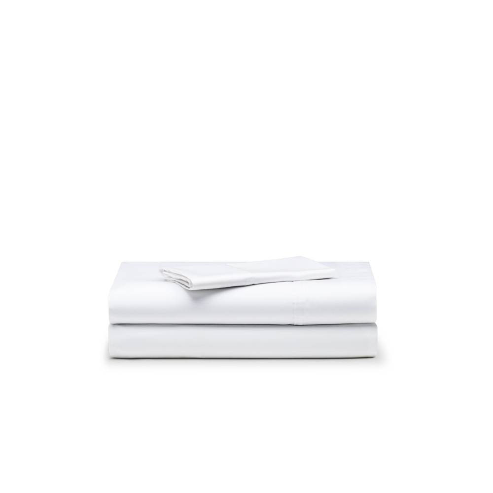 Basics Juego de sábanas satén algodón 300 hilos cama de 90 Santorini