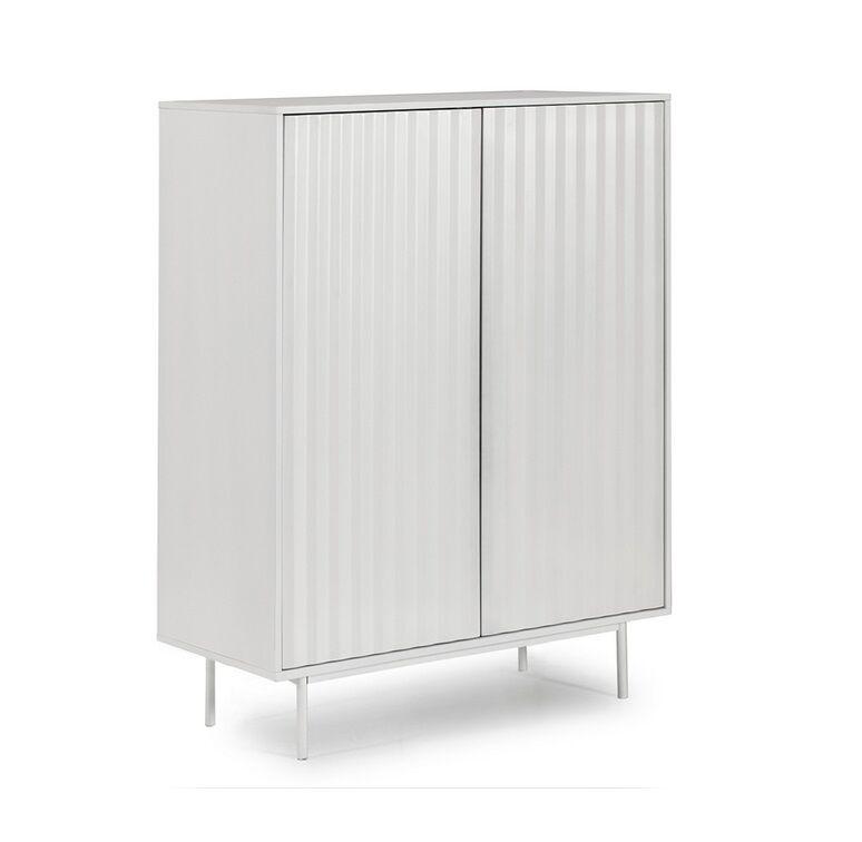 Aparador mueble auxiliar sierra 2 puertas blanco 130x97