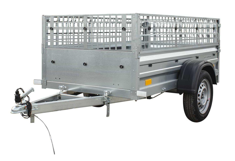 Remolque basculante de carga ligero con laterales de reja MMA 750kg Garden Trailer 200