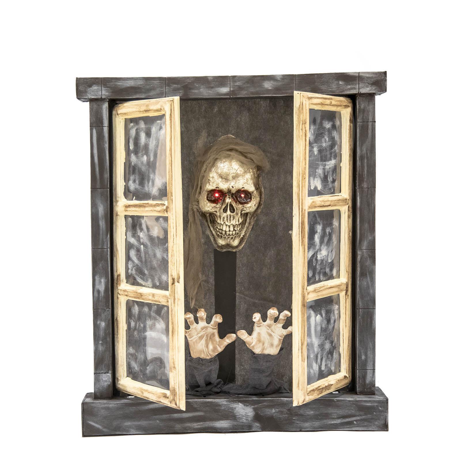 LOLA home Ventana encantado para Halloween goma eva de 72x13x85 cm